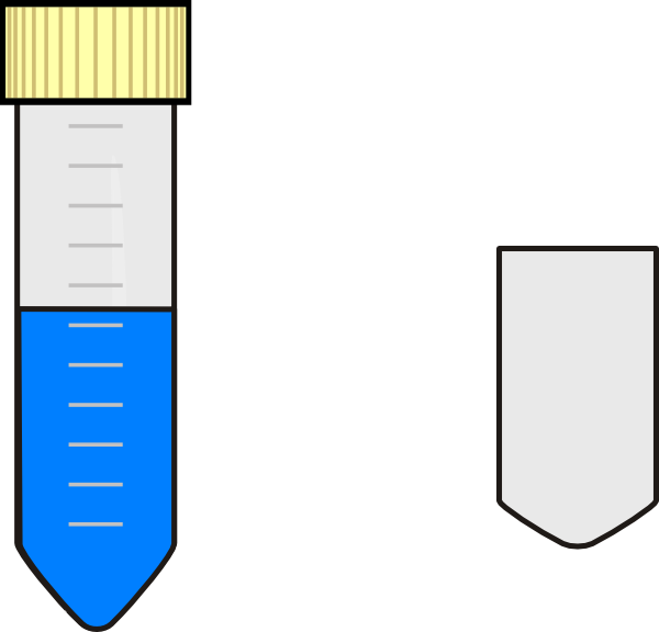 Falcon Test Tube With Blue Nutrient Media Clip Art at Clker.