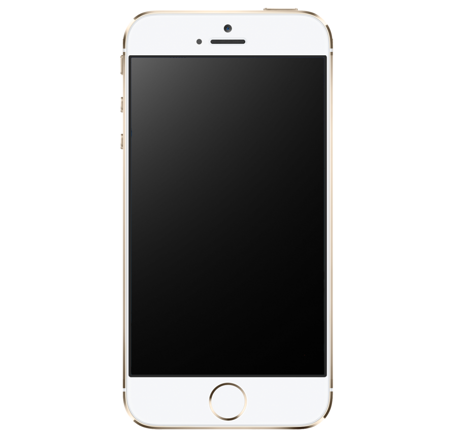 Golden IPhone 5S PNG Image.
