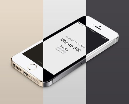 Free 3D View iPhone 5S Psd Vector Mockups Clipart and Vector.