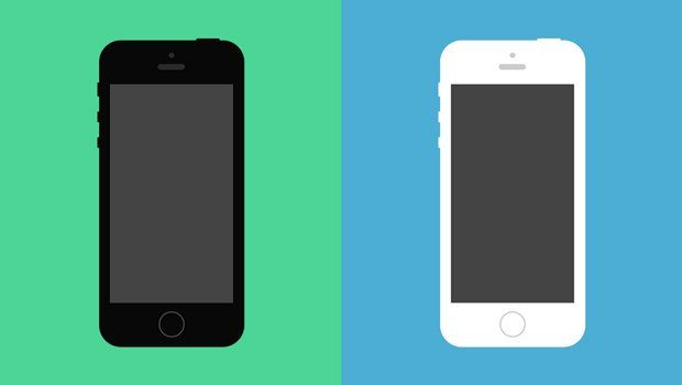 Flat iPhone 5S Psd Vector Mockup in 2019.