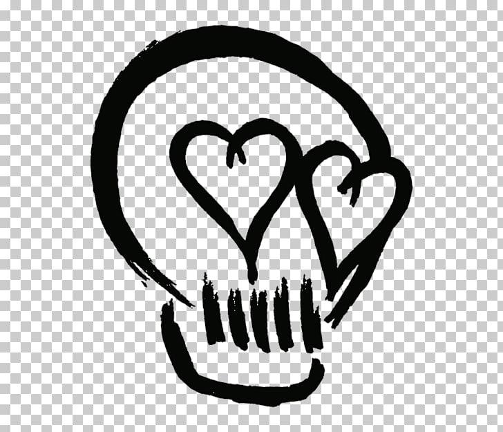 5 Seconds of Summer Sticker Youngblood Skull Castaway, black.
