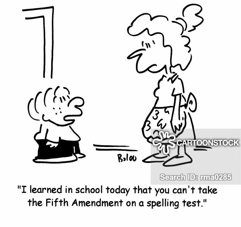 5th Amendment Cartoons and Comics.