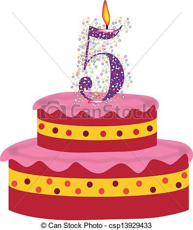 cake of fifth birthday,anniversary.