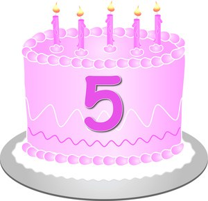 5th birthday cake clipart » Clipart Portal.
