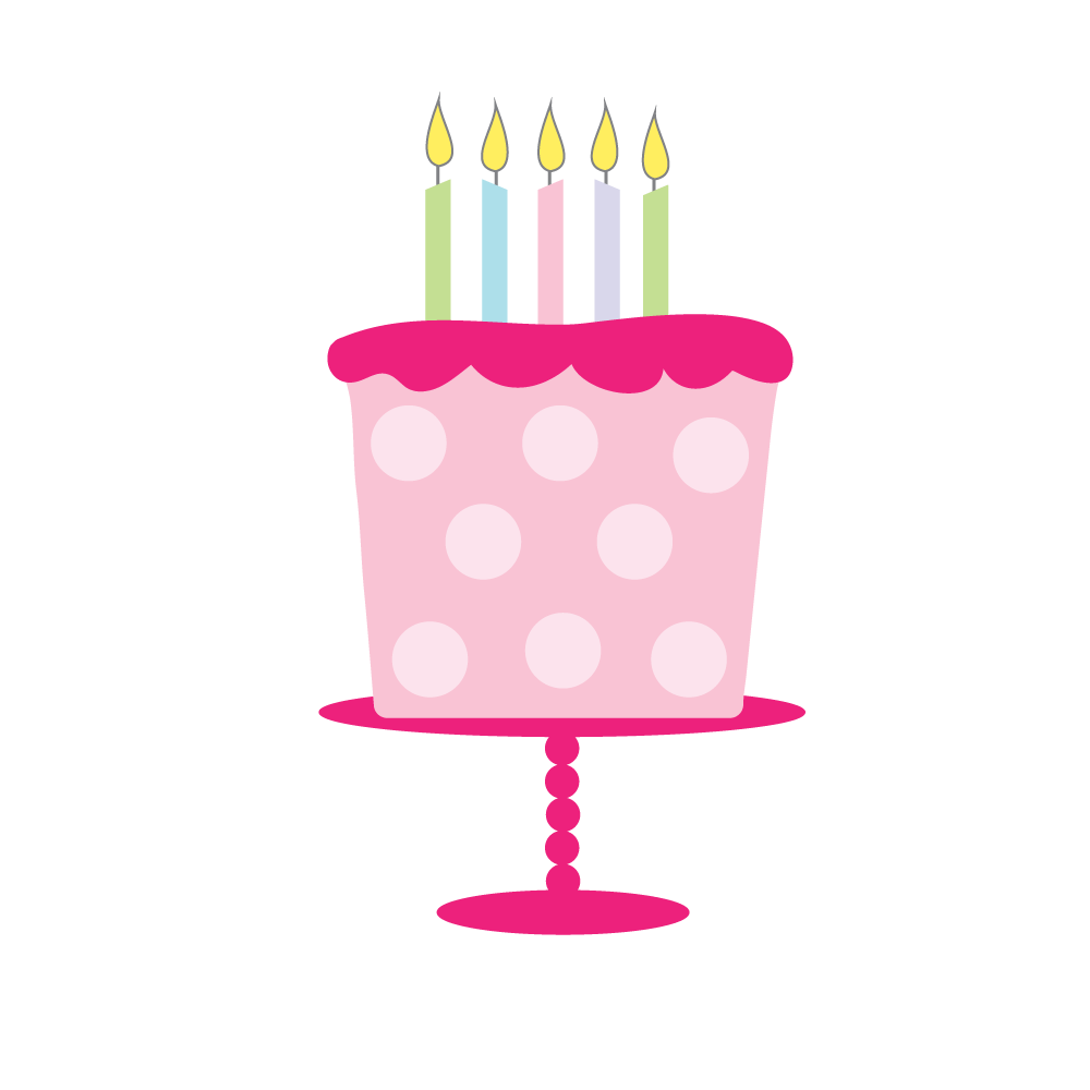 Free Birthday Cake Clipart for craft projects, websites.
