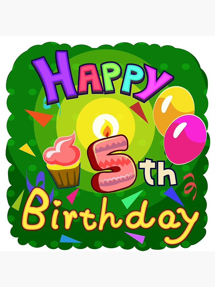 Happy 5th Birthday for Boys, Girls.