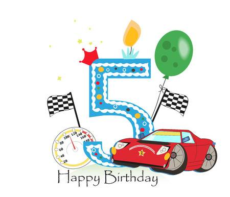 happy 5th birthday clipart 72360161 stock vector fifth.