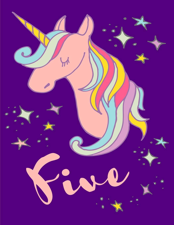 Amazon.com: Magical Unicorn 5th Birthday Lined Notebook.