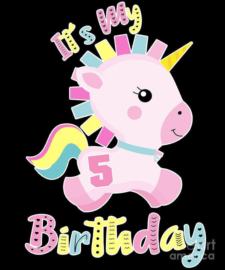 Its My 5th Birthday Baby Unicorn Girls Gift.