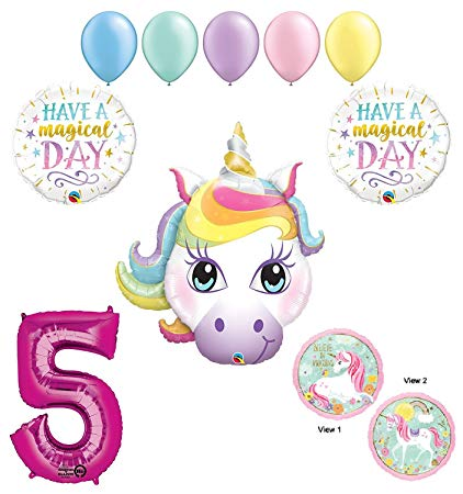 Amazon.com: 5th Birthday Unicorn Magic Balloon Decoration.