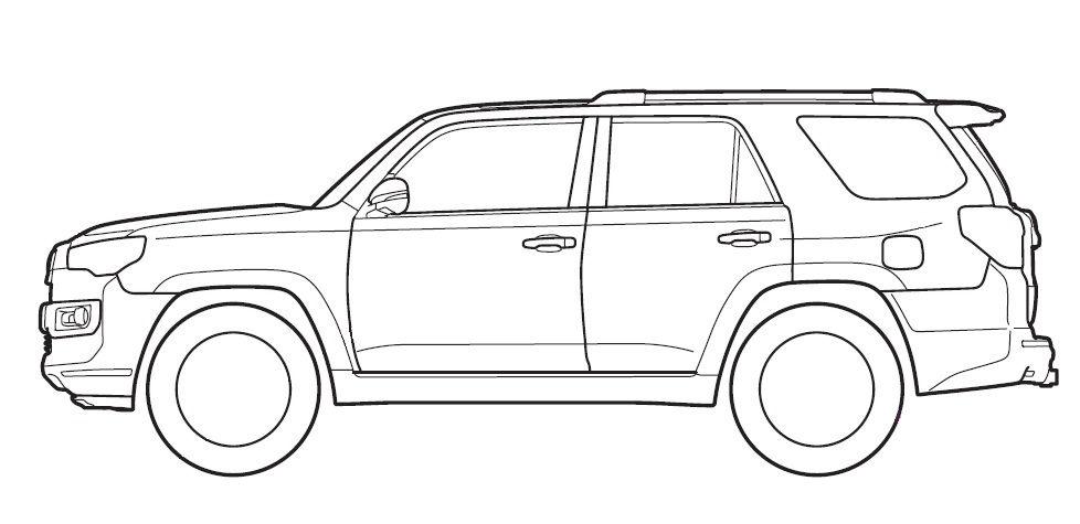Toyota 4runner Sketch.