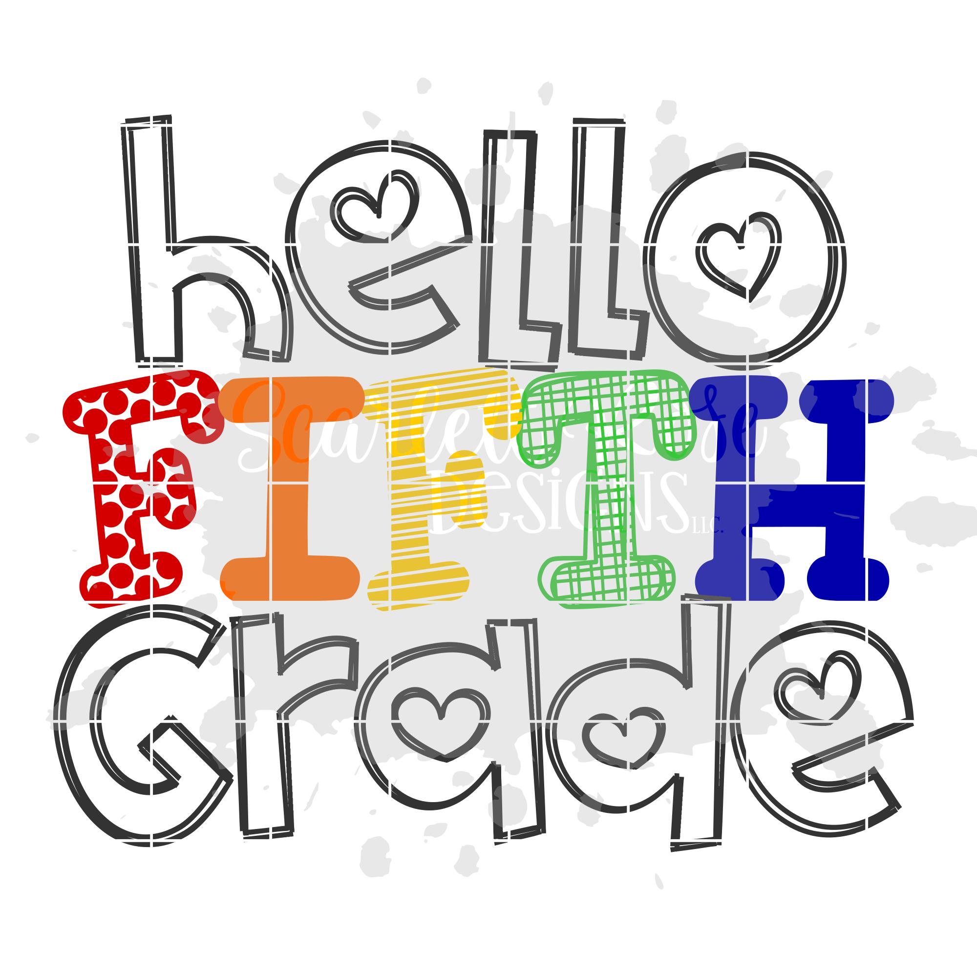 Hello Fifth Grade SVG.