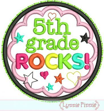 5th Grade Rocks Clipart.