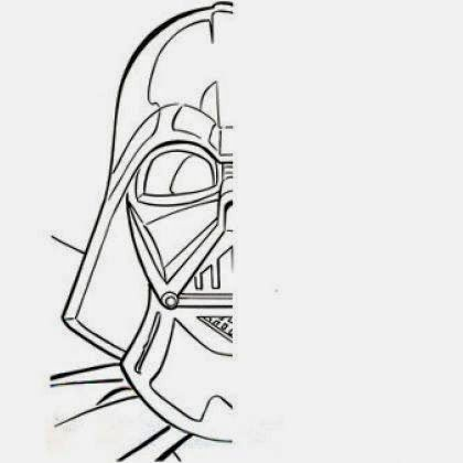 Craft Time: Draw the Other Half of Darth Vader\'s Face.