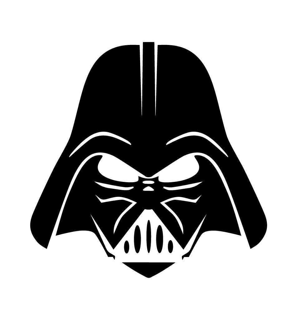 Darth vader face clipart clipart images gallery for free.