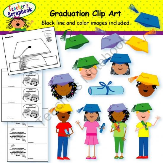 Graduation Clip Art product from TeacherScrapbook on.