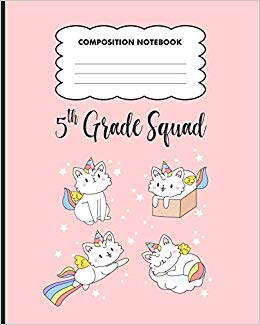 5th grade Squad Composition Notebook: Back to School primary.