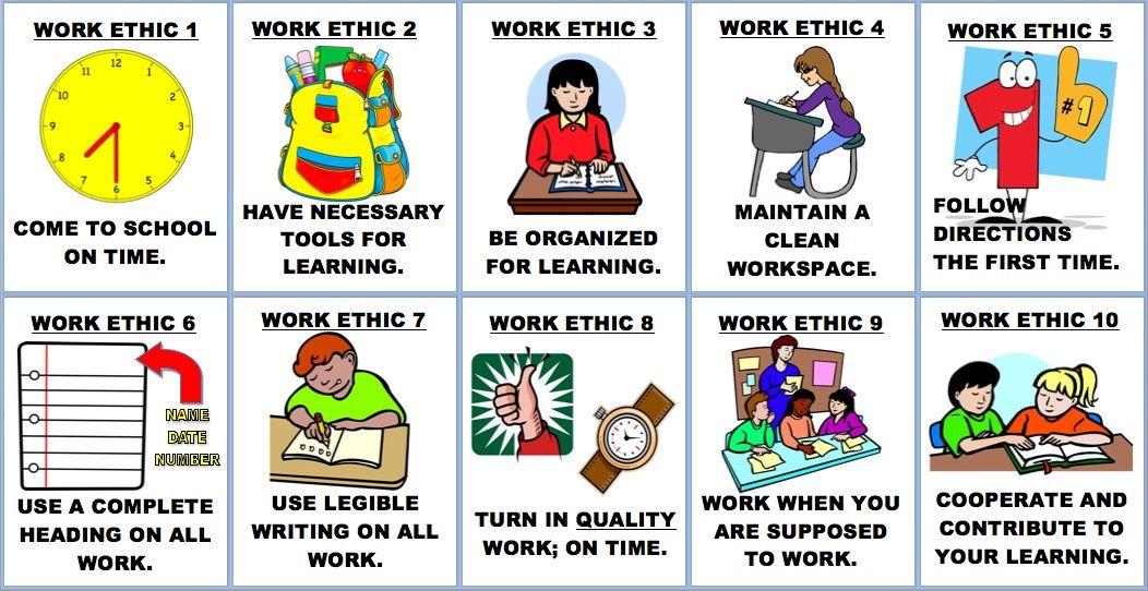 high school classroom rules clipart.