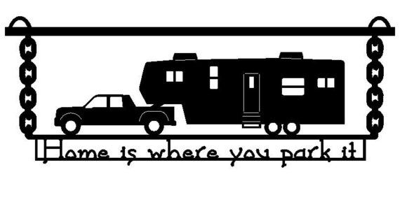 5th Wheel Camper Clipart Image.