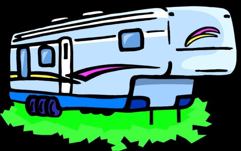 rv clip art clipartsco Graphics 5th wheel camper clipart Top.