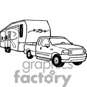 Rv Black And White Clipart.