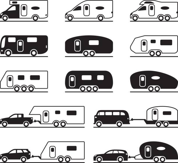 Best Travel Trailer Illustrations, Royalty.