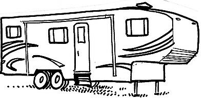 MOUNTED RUBBER STAMPS Lot, RV Stamps, Camping, 5th Wheel Camper.