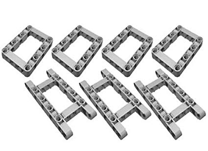 LEGO Technic NEW 7 pcs CHASSIS FRAME LIFTARM Beam Studless Part Piece 64179  64178 Mindstorms.