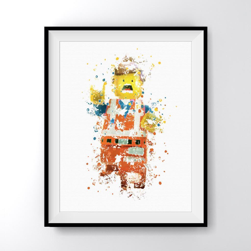 Lego Man Emmet Art Print Poster.
