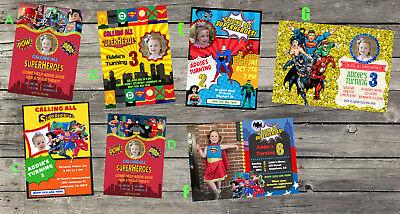 PERSONALIZED MARVEL\'S LEGO Superheroes Birthday Invitation.