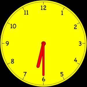 Clock 6:00.