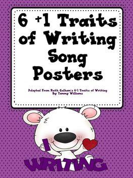 6+1 Traits of Writing Song Posters (polka dot).