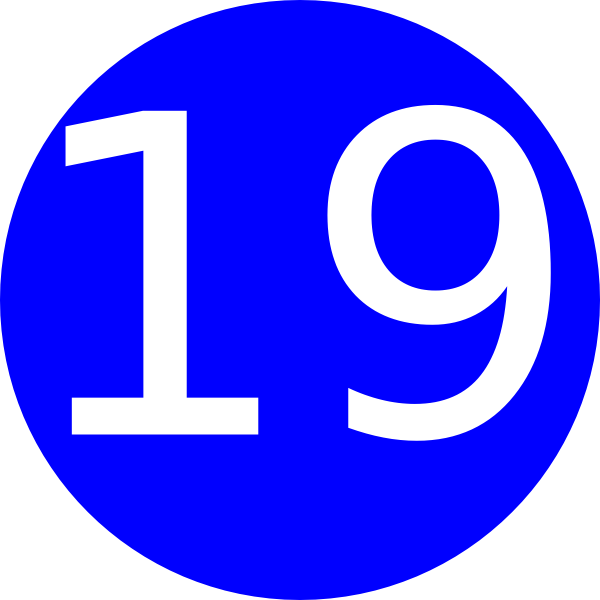 Number 19 Blue Background Clip Art at Clker.com.