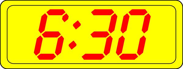 Digital Clock 6:30 Clip Art at Clker.com.