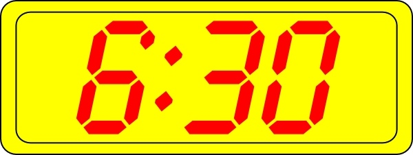 Digital Clock 6:30 clip art Free vector in Open office.
