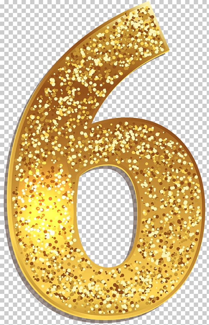 Gold Number Symbol , number 5, gold number 6 illustration.