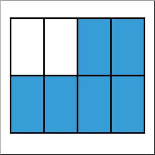 Clip Art: Rectangle08 6/8 Color I abcteach.com.