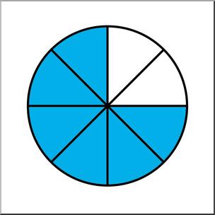 Clip Art: Circle08 Color 6/8 I abcteach.com.
