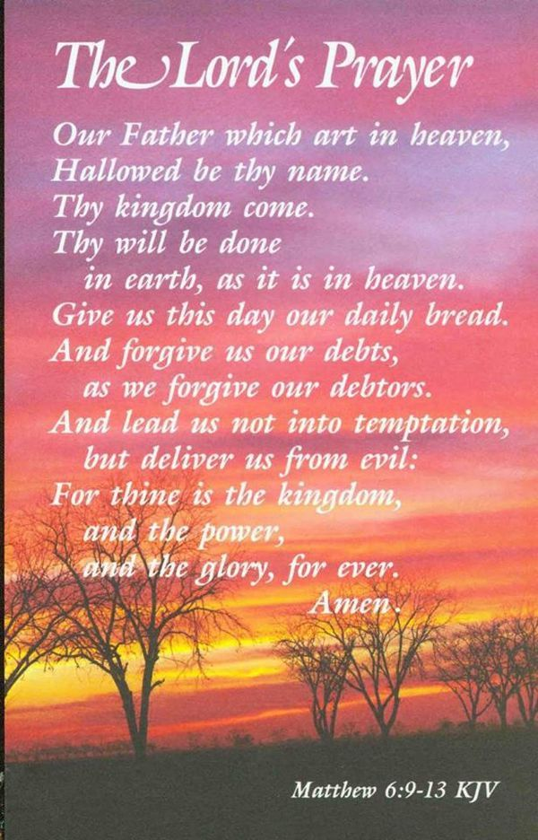 Matthew 6:9.