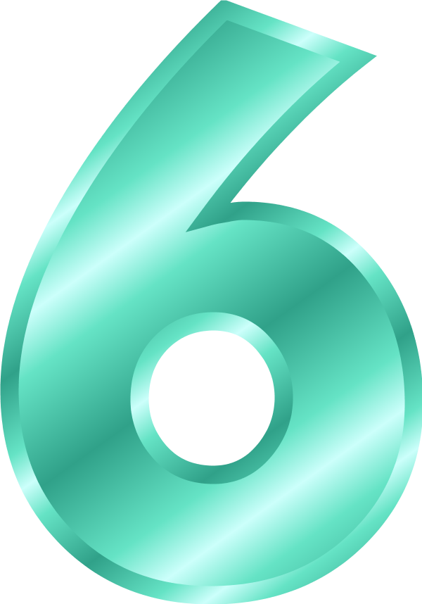 Number 6 clipart six, Number 6 six Transparent FREE for.