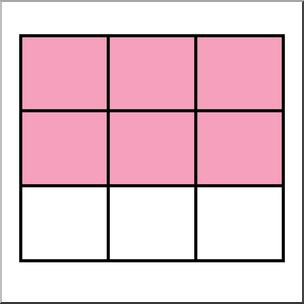Clip Art: Rectangle09 6/9 Color I abcteach.com.