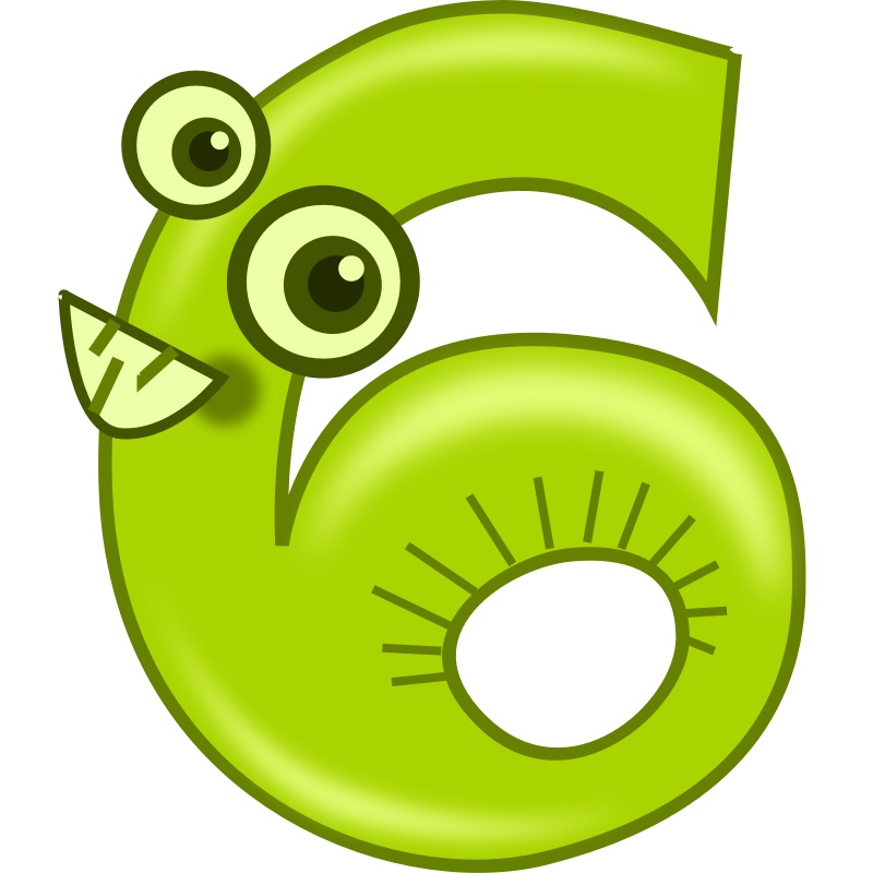6 clipart animated number Transparent pictures on F.