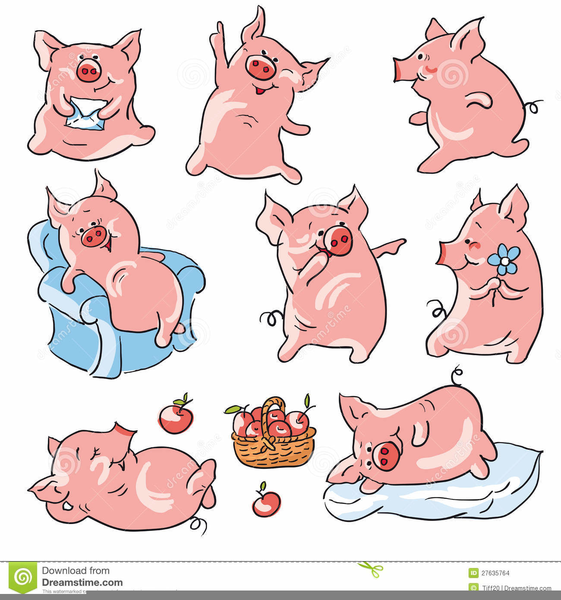 Pigs Animated Clipart.