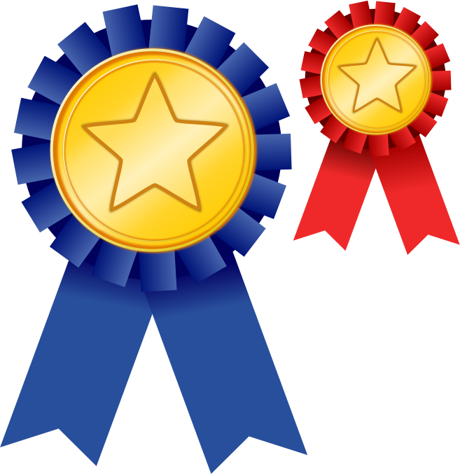 788 Award Ribbon free clipart.