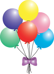 6 Balloons Clipart.