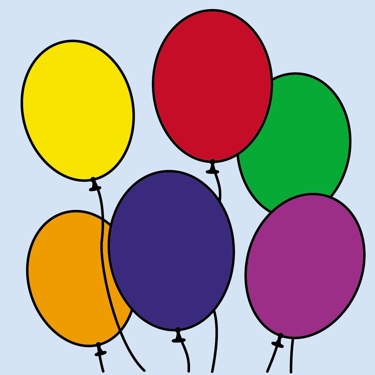 Clipart balloons six, Clipart balloons six Transparent FREE.