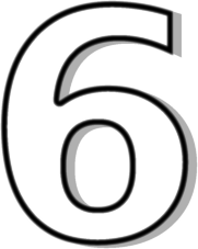 Number Six Clipart.