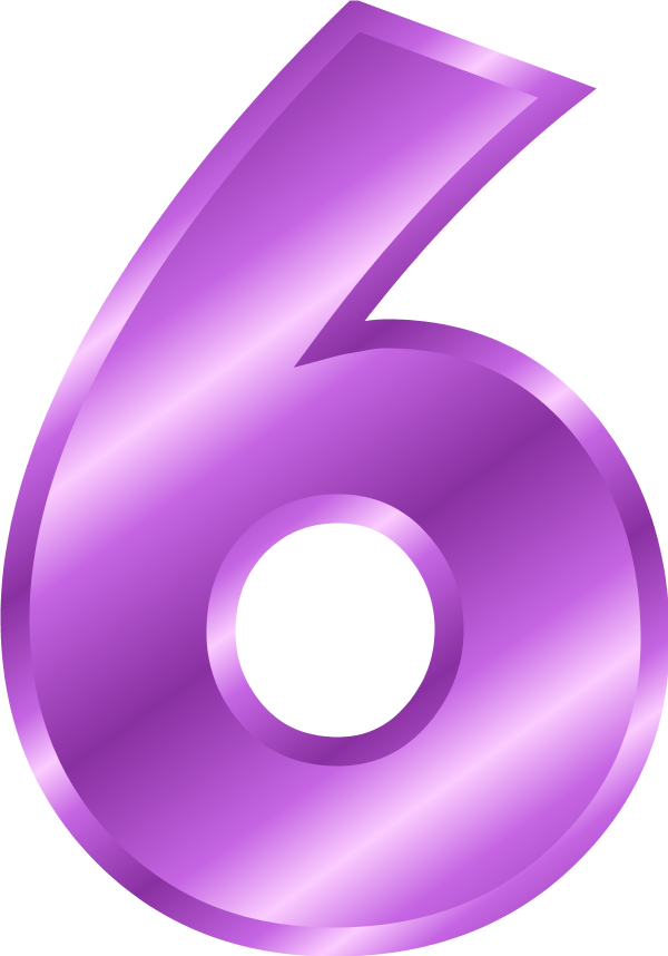 Number 6 Clipart.