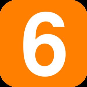 Orange 6 Clip Art at Clker.com.