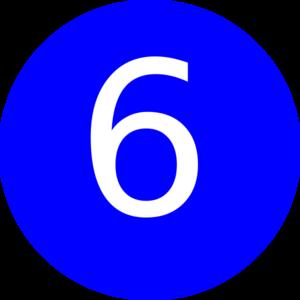 Number 6 Blue Background Clip Art at Clker.com.